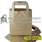 BROWN KRAFT PAPER SOS CARRIER BAGS TAKEAWAY FOOD PARTIES WITH HANDLES