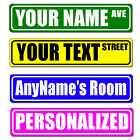 Personalized and Custom Made Metal Street Sign. Rustproof! With your text.