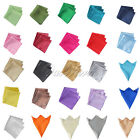 "10 Square Satin Cloth Napkin or 12"" Handkerchief Multi Purpose Wedding Party Hot"