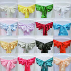 100pcs Satin Chair Cover Bow Sash Wedding Party Decor Banquet WED-SCS