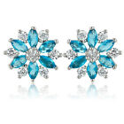 HOT! FASHION JEWELRY MARQUISE CUT 18K WHITE GOLD PLATED EARRINGS