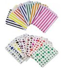 100 x CANDY STRIPE OR POLKA DOT PAPER SWEET FAVOUR BUFFET CAKE BAGS - 7x9 INCHES