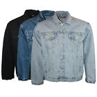 MENS AZTEC CASUAL DENIM JACKETS STONEWASH LIGHTWASH BLACK S M L XL 2XL 3XL 4XL