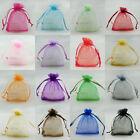 "100pcs 13x17cm Organza Wedding Favour Gift Bags Jewellery Pouches 5""x7"""