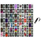 Design Color Hard Snap-On Case Cover Accessory+Stylus Plug for iPhone 4 4G 4S