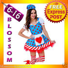J95 Ladies Sexy Rag Doll Raggedy Anne Fancy Dress Halloween Costume Outfit + Hat