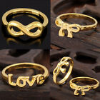 Women Fashion Punk Rock Infinity Bowknot Charms Finger Ring Rings Gift