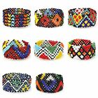 Women's Multi-Color Vintage Boho Seed Beaded Statement Bangle Bracelet