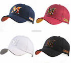 New Black Baseball cap Casual hats Sports caps unisex hat with M letter