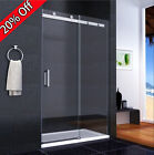 Luxury Shower Enclosure Sliding Door Walk In Glass Cubicle Screen Stone Tray HP1
