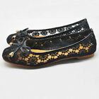 EU 38 - 44 Hot lace embroidery nude bride ballet flat slip on ladiess shoes [HA]