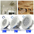 6/60x 3W/7W/12W Recessed LED Downlight Kit ceiling down spot light w/ Driver UK