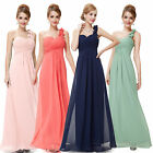 Ever Pretty Hot One Shoulder Long Bridesmaid Chiffon Maxi Evening Dresses 09768