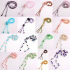 Fashion Style Crystal Glass Gemstone Beads Flower Chain Choker Necklace Jewelry