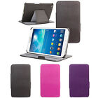 Leather Multi-Angle Stand Cover Sleep/Wake Up Case For Samsung Galaxy Tab 3 8.0""