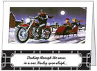 Your Words BUSINESS PERSONAL Motorcycle HARLEY Sleigh CUSTOM Christmas CARDS USA