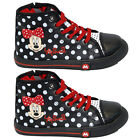 GIRLS INFANT DISNEY MINNIE MOUSE SCHOOL FASHION TRAINERS VELCRO KIDS SHOES SIZE