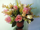 2 5 PCS Home artificial silk wedding bouquet of roses decorated  f997