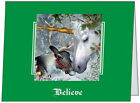 UR Words BUSINESS PERSONAL Reindeer UNICORN Believe CUSTOM Christmas CARDS USA