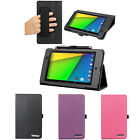 Leather Folio Stand Case Smart Cover w/ Handstrap For Google Nexus 7 FHD 2nd Gen