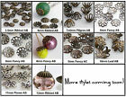 Antiqued Bead Caps Choose Brass Silver Copper /Size/Style/Qty
