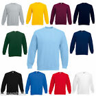 Fruit of the Loom Set in Sleeve Sweatshirt Jumper S - XXXL 11 Colours Wholesale