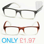 NEW RIMMED READY READERS READING GLASSES - GREY/BROWN +1.5+2.0+2.50+3.00+4.0
