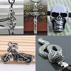 Many Styles Punk Rock Gothic Stainless Steel Charms Pendant Beads Men's Jewelry