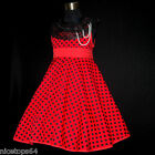 R3122 Girl Reds Thanksgiving Christmas Party Girls Dress SIZE 2,3,4,5,6,7,8,9,10
