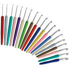 KnitPro Waves Aluminium Crochet Hook With Colourful Soft Grip Handle 2mm - 12mm