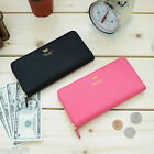 Cute Ribbon Symbol Womens Clutch Wallet Purse Faux Leather Card Case Pocket