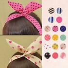 Korean Fashion Sweet Polka Dots Hair Band Rabbit Headband Ponytail Holder Scarf