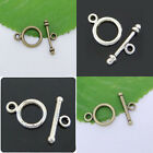 45 Sets Tibetan silver,Bronze Tiny Smooth Round Ring Connector Toggle Clasps New