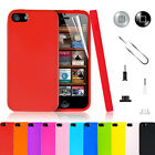 Stylish Gel Rubber Silicone Case Cover For iPhone 5 5G 5s Free Screen Protector