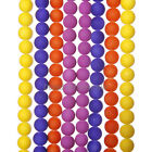 Matte Neon Frosted Glass Round Spacer Beads Mixed Color