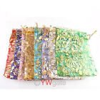 30x Organza Jewelry Packing Pouch Wedding Favor Gift DIY Bags 16x11cm