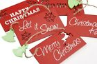 Small Christmas Wooden Saying Plaque Red Hanging Signs Tree Decoration Present