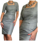 New Ladies Office Bodycon Pencil Smart Work Midi Dress Size 10 12 14 16 18 20