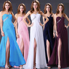2013 New Sexy Bead Split Evening Long Pageant Formal Prom Wedding Gown Dresses