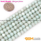 Jewelry Making round frost pure amazonite gemstone Loose beads strand 15""