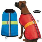 Blue or Red KONG NorEaster Rugged Winter Coats for Dogs Adjustable Reflective