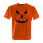 ORANGE HALLOWEEN SCARY T-SHIRT PUMPKIN FACE ALL SIZES - SAME DAY DISPATCH