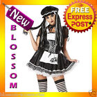 C818 Dreadful Doll Gothic Raggedy Anne Womens Halloween Adult Costume