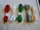 Dbl Sided Satin Ribbon - 5mtr lengths GOOD CHRISTMAS COLOURS **NEW**