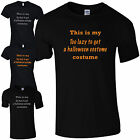 TOO LAZY TO GET A HALLOWEEN COSTUME T-SHIRT - FUNNY PARTY MENS / LADIES SIZES