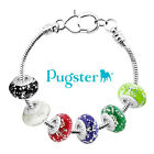 Pugster Silver Spots Red Polymer Clay European Bead Fit Charm & Bracelet B34