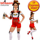 I26 Adult German Beer Maid Woman Oktoberfest Costume Lederhosen Party Outfit