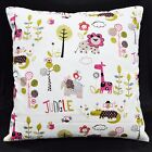 LL309a White Red Oliver Kids Pure Cotton Canvas Fabric Cushion Cover/Pillow Case