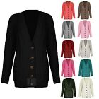 Cardigan Top Womens Knitted Diamond Grandad Button Boyfriend Plus Size