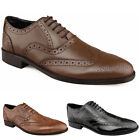 Mens New Black / Dark Brown / Taupe Leather Brogues Leather Soles UK 7 - 12